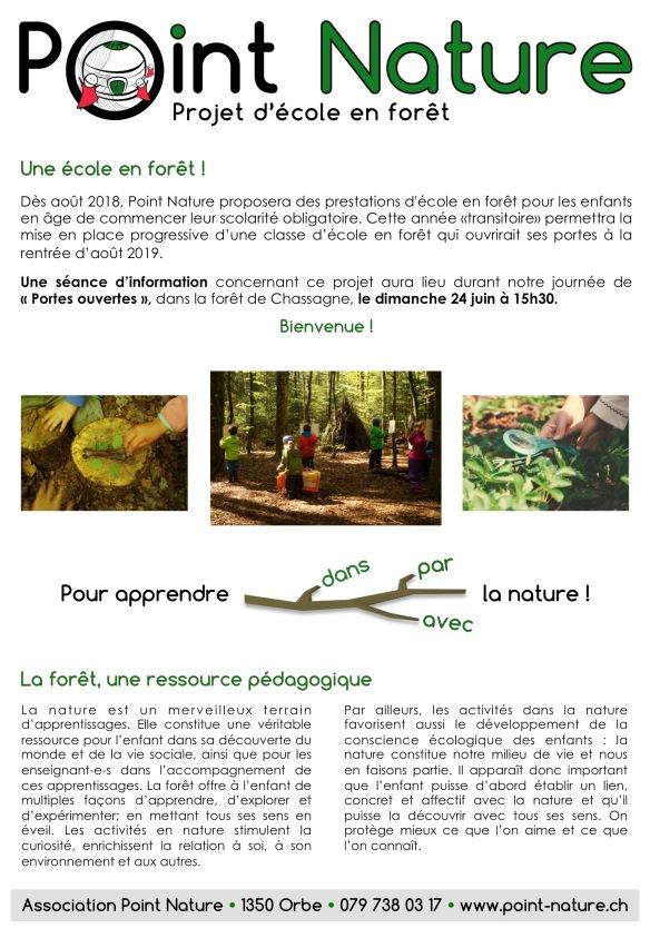 Ecole en forêt Flyer 05.2018