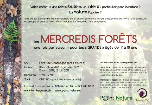 Mercredis forêt 2018-2019 affiche