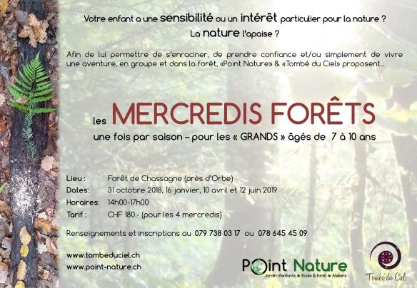 Mercredis forêt 2018-2019 flyer